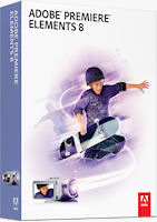Adobe Premiere Elements 8 packaging. Rendering provided by Adobe Systems Inc.