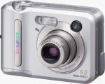 Casio's QV-R62 digital camera. Courtesy of Casio, with modifications by Michael R. Tomkins.