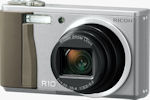 Ricoh's R10 digital camera. Courtesy of Ricoh, with modifications by Michael R. Tomkins.