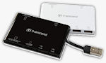 Transcend's RDP7 multi-card reader. Photo provided by Transcend Information Inc.