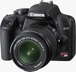 Canon's EOS Rebel XS digital camera. Courtesy of Canon, with modifications by Michael R. Tomkins.