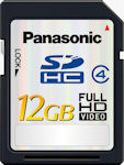 Panasonic's RP-SDM12G 12GB SDHC card. Courtesy of Panasonic, with modifications by Michael R. Tomkins.