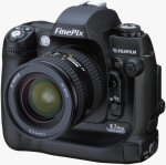 Fujifilm's FinePix S3 Pro digital camera. Courtesy of Fujifilm, with modifications by Michael R. Tomkins.