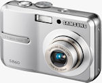 Samsung's S860 digital camera. Courtesy of Samsung, with modifications by Michael R. Tomkins.