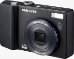 Samsung's L74 Wide digital camera. Courtesy of Samsung, with modifications by Michael R. Tomkins.