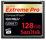 SanDisk Extreme® Pro™ UDMA-7 CompactFlash card. Image courtesy of SanDisk Corporation.