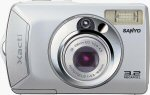 Sanyo's DSC-S1 digital camera. Courtesy of Sanyo, with modifications by Michael R. Tomkins.