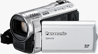 Panasonic's SDR-S70 camcorder. Photo provided by Panasonic Consumer Electronics Co.