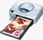 Canon's SELPHY CP600 dye sublimation photo printer. Courtesy of Canon, with modifications by Michael R. Tomkins.