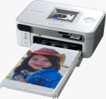 Canon's SELPHY CP740 photo printer. Courtesy of Canon, with modifications by Michael R. Tomkins.