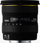 Sigma's 10-20mm F4-5.6 EX DC lens. Courtesy of Sigma, with modifications by Michael R. Tomkins.