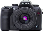 Sigma SD14 digital SLR. Courtesy of Sigma, with modifications by Zig Weidelich.
