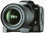 Sigma's SD9 digital camera. Courtesy of Sigma Corporation with modifications by Michael R. Tomkins.
