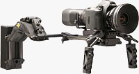 Cinevate's Simplis DSLR Rig with Canon DSLR attached. Photo provided by Cinevate Inc.