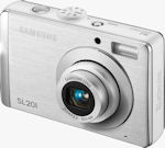 Samsung's SL201 digital camera. Courtesy of Samsung, with modifications by Michael R. Tomkins.