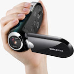 Samsung SMX-C14 digital camcorder. Photo provided by Samsung Electronics America Inc.