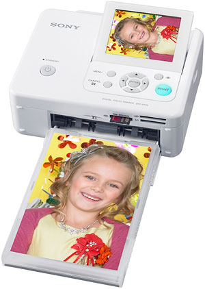 Sony's  DPP-FP75 photo printer . Courtesy of Sony, with modifications by Zig Weidelich