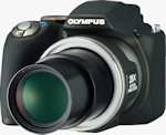 Olympus' SP-590 UltraZoom digital camera. Photo provided by Olympus Imaging America Inc.