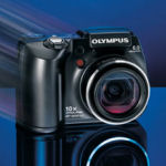 Olympus' SP-500 UltraZoom digital camera. Courtesy of Olympus, with modifications by Michael R. Tomkins.