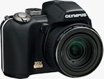 Olympus SP-565 UZ digital camera. Courtesy of Olympus, with modifications by Michael R. Tomkins.