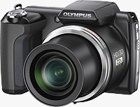Olympus' SP-610UZ digital camera. Photo provided by Olympus Imaging America Inc.