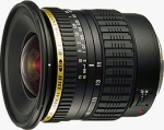 Tamron's SP AF11 - 18mm F/4.5 - 5.6 Di-II LD Aspherical (IF) lens. Courtesy of Tamron, with modifications by Michael R. Tomkins.