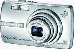 Olympus' Stylus 740 digital camera. Courtesy of Olympus, with modifications by Michael R. Tomkins.