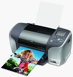 Epson's Stylus Photo 925 photo printer. Courtesy of Epson America Inc., with modifications by Michael R. Tomkins.