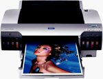 Epson's Stylus Pro 4000 photo printer. Courtesy of Epson, with modifications by Michael R. Tomkins.
