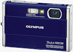 Olympus' Stylus 1050SW digital camera. Courtesy of Olympus, with modifications by Michael R. Tomkins.