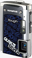 The Olympus TG-610 Quiksilver limited edition digital camera. Photo provided by Olympus Imaging Australia Pty Ltd.