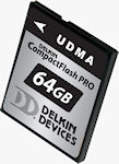 Delkin Devices' 64GB UDMA CompactFlash PRO card. Rendering provided by Delkin Devices Inc.
