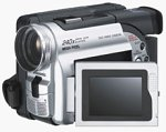 Panasonic's VDR-M20 DVD camcorder. Courtesy of Panasonic, with modifications by Michael R. Tomkins.