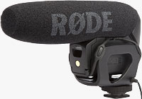 Rode's VideoMic Pro microphone. Photo courtesy of R�DE Microphones.