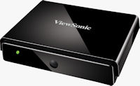 The ViewSonic NexTV VMP75 network media player, top quarter view. Photo provided by ViewSonic Corp.