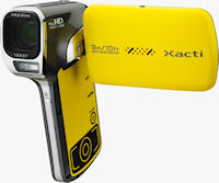 The VPC-CA102YL Dual Camera Xacti flash camcorder. Photo provided by Sanyo Electric Co. Ltd.