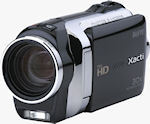 Sanyo's Xacti VPC-SH1 dual camera offers HD video and four megapixel still imaging. Photo provided by Sanyo North America Corp.