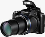 Samsung's WB5500 digital camera. Photo provided by Samsung Electronics GmbH.