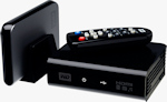 Western Digital's TV HD Media Player. Courtesy of Western Digital, with modifications by Michael R. Tomkins.