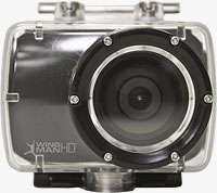 The Delkin WingmanHD camera in its waterproof housing. Photos provided by Delkin Devices Inc.