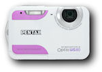 Pentax's Optio WS80 digital camera. Photo provided by Pentax Imaging Co.