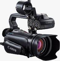 Canon's XA10 Professional camcorder. Photo provided by Canon USA Inc.