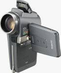 Sanyo's VPC-HD1 digital camera. Courtesy of Sanyo, with modifications by Michael R. Tomkins.
