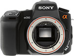 Sony Alpha A350 digital SLR. Copyright © 2008, The Imaging Resource. All rights reserved.