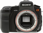 Sony A200 digital SLR camera. Copyright © 2008, The Imaging Resource. All rights reserved.