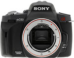 Sony Alpha A330 digital SLR. Copyright © 2009, The Imaging Resource. All rights reserved.