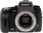 Sony Alpha DSLR-A500 digital SLR camera. Copyright © 2010, The Imaging Resource. All rights reserved.