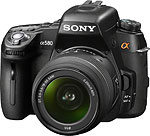 Sony's Alpha DSLR-A580 digital SLR. Photo provided by Sony Electronics Inc.