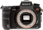 Sony Alpha A700 digital SLR camera. Copyright © 2007, The Imaging Resource. All rights reserved.