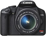 Canon Rebel XSi digital SLR. Courtesy of Canon, with modifications by Zig Weidelich.